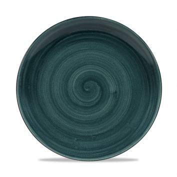 Churchill Stonecast -Coupe Plate Teller- Durchmesser: Ø26,0cm, Farbe wählbar (Rustic Teal) Teal Coupe