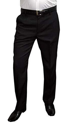 NGB Herren Anzughose mit Bügelfalte, Schwarz, Gr 64