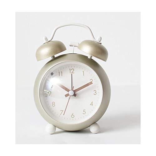Despertador JXLBB Convexo Polvo Plateado Reloj Silencioso Simple Creativo Ojo Reloj Nocturno Reloj Súper...
