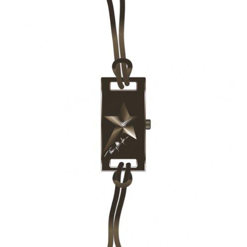 Thierry Mugler 4703904 - Reloj analógico de cuarzo para mujer con correa de piel, color marrón