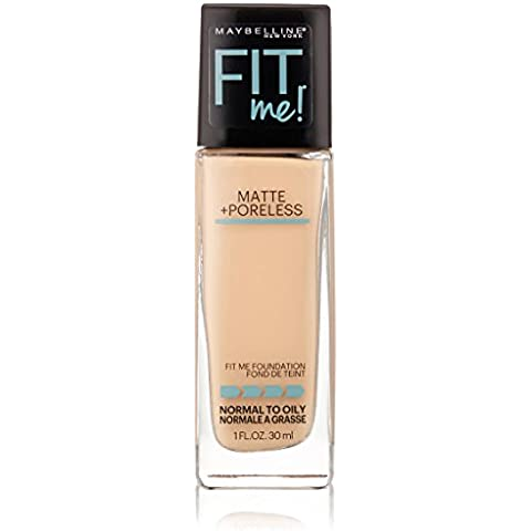 Maybelline New York Fit Me Matte Plus poreless Foundation Makeup, Ivory (Imprimación para feineres piel Imagen) Estados Unidos