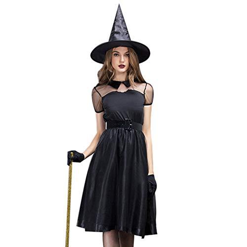 Kostüm Mao Anzug - ERFD&GRF Halloween Kostüm Hexe Anzug Frauen Ghost Dress Game Kostüme für Rave Party Stage Röcke, L