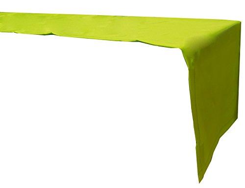 beo Outdoor-Tischdecken wasserabweisender Tischläufer, eckig, 120 x 45 cm, hellgrün