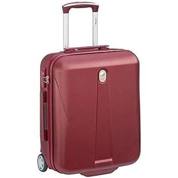 a3fc31b657 Visa delsey Valise Cabine Slim Trolley Amplitude - 50 cm - 2 Roues - Rouge
