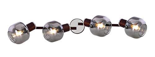 Lámpara de techo con 4 focos, para el pasillo, el salón (cristal...