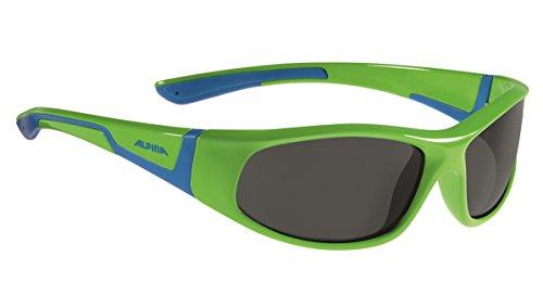 Alpina Kinder Flexxy Junior Sonnenbrille, Neon Green/Blue, One Size
