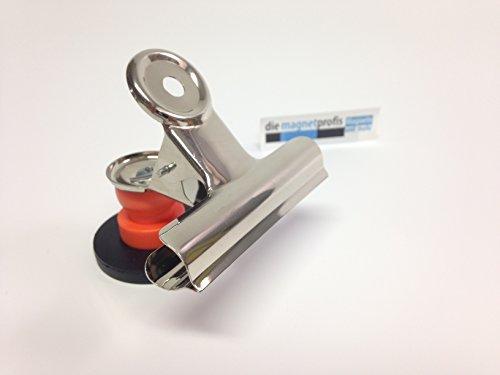Papierklemmer 80 x 80 mm mit gummiertem Magnetfuß