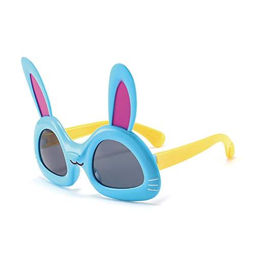 Vikenner Kinder Sonnenbrille Dekorative Brille ohne sehstärke Brille Lichtschutzbrille Arbeitsplatzbrille blaulichtfilter Brille Schwarze Linse mit Cat Rahmen Blau