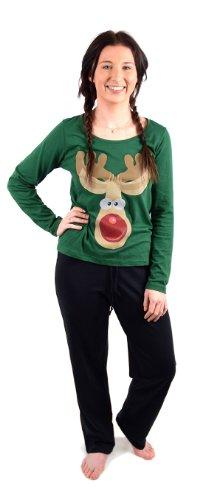 Socks Uwear - Ensemble de pyjama -  - Ensemble pyjama Femme Multicolore Bigarré Vert - Green-Rudolf