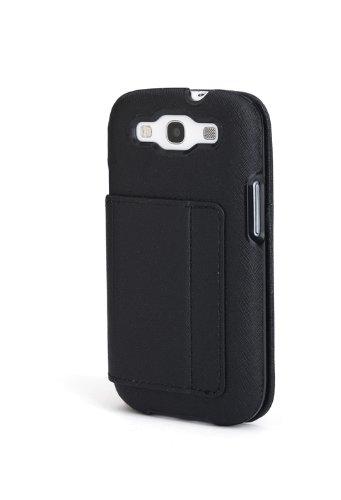 Kensington K39612WW Folio Wallet für Samsung Galaxy S III schwarz Crosshatch Portafolio Duo