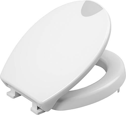 Cornat WC-Sitz Safeline - Klassisch weißer Look - Pflegeleichter Duroplast - Erhöhte Form - Absenkautomatik - Schlichtes Design passt in jedes Badezimmer / Toilettensitz / Klodeckel / KSSLSC00 -