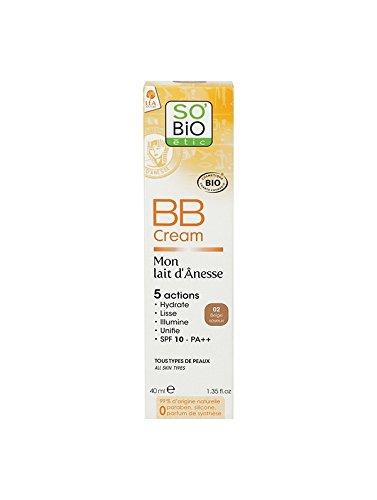 BB cream au lait d'ânesse bio beige soyeux 40mL SO'BiO étic
