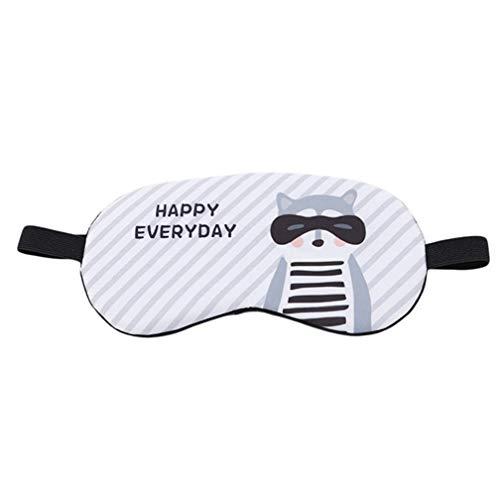 MKCLY Niedlichen Tier Flauschigen Neuheit Schlaf, Augenmaske, Augenbinde mit 3D-Ohren, Kaninchen, Pinguin Gesicht Auge Reise Schlaf Lichtdichte Maske ()