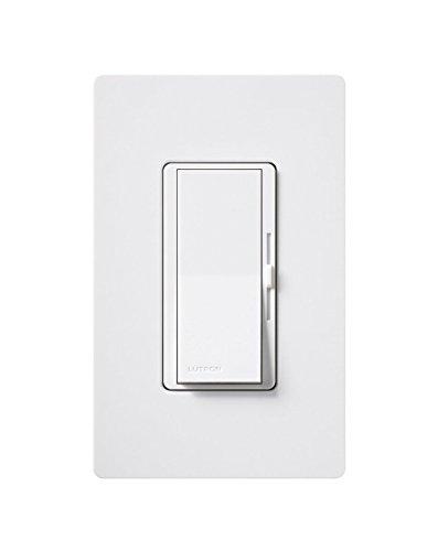 Lutron Diva dimmbar CFL/LED Dimmer mit Wanddose, weiß, 4-Pack 150.0 watts (Beleuchtung Lutron)