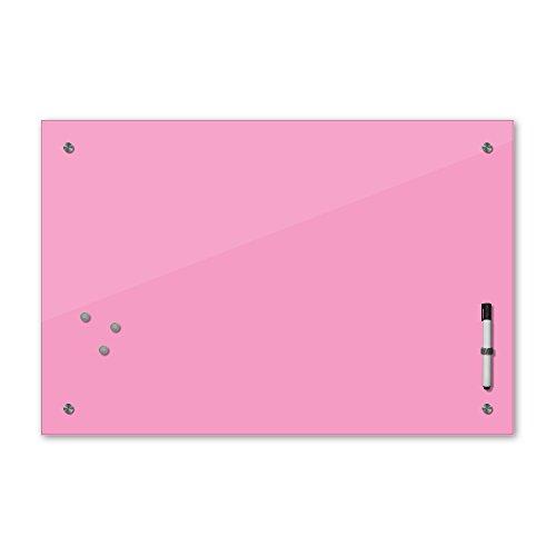 Bilderdepot24 Memoboard 60 x 40 cm, 24 Farben - rosa - Hellrosa - Glas - Glasboard - Glastafel - Magnetwand - Pinnwand - Mehrzwecktafel Farbton - Grundfarbe - einfarbige Schreibtafel