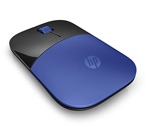 HP Z3700 (V0L81AA) kabellose Maus (1.200 optische Sensoren, bis zu 16 Monate Batterielaufzeit, USB Anschluss, Plug&Play) blau -