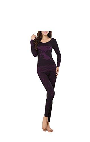 Tang moine, Frauen, Rundhalsausschnitt, Nahtlos, Körperformung, Warme Unterwäsche, Anzüge,Black | 07703734116155