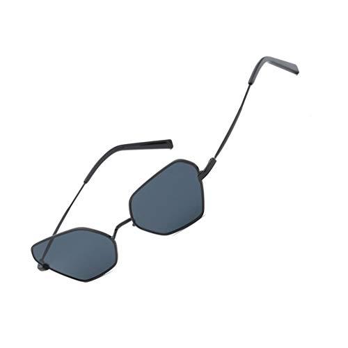 BoburyL Tierisches Auge Sonnenbrille-Frauen-Metallrahmen Sonnenbrillen UV400 Damen Unregelmäßige Shades Brillen