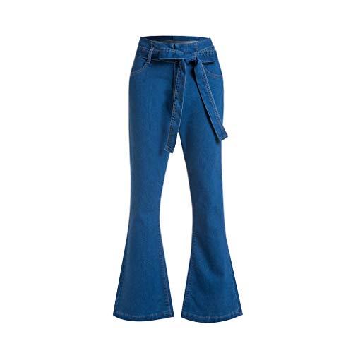 e94b12e4f8d9 Siswong Femminile Jeans Donna Taglie Forti Vita Alta Sexy Estivi Pantalone  Donne Push Up Casuale Denim Pant Moda Pantaloni Flare Jeans Donna Larghi  Jeans a ...