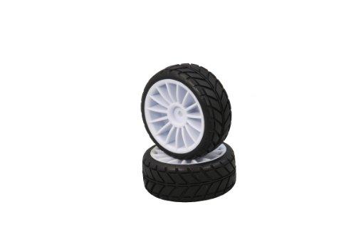 Jamara 505373 - Neumáticos con llantas Hoolk (escala 1:10, 2 unidades), color blanco importado de Alemania