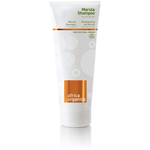 Shampoing au Marula - Idéal pour cheveux gras et fins - Shampoing nourrissant léger - ingrédients 100% naturels - huile de marula, aloe vera, rooibos, baobab, menthe - 210ml - Africa Organics