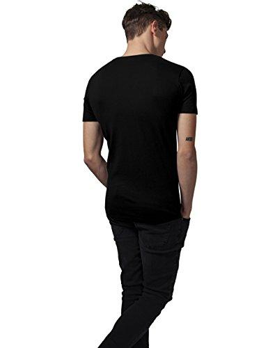 Urban Classics Herren T-Shirt Basic V-Neck Tee Schwarz (Black 7)