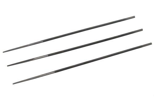 Aerzetix: Jeu de 3 limes d'affûtage pour chaîne de/à tronçonneuse Rondes 3.5mm - C1348
