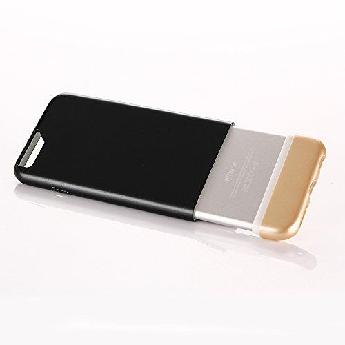 fonrest bicolor Abnehmbare Slide Schutzhülle/Schutzabdeckung hinten Slim Fit PC Hartschalen-Schutzhülle für iPhone 6/6S schwarz / gold