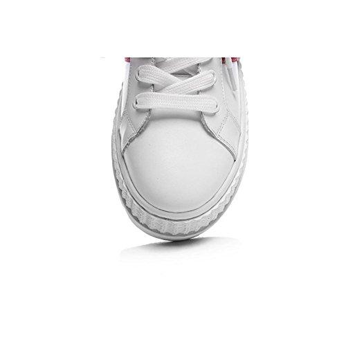 Wsxy-a1415 Sneakers De Course À Pied À Plateforme Unique Pour Femme, Kjjde Blanc