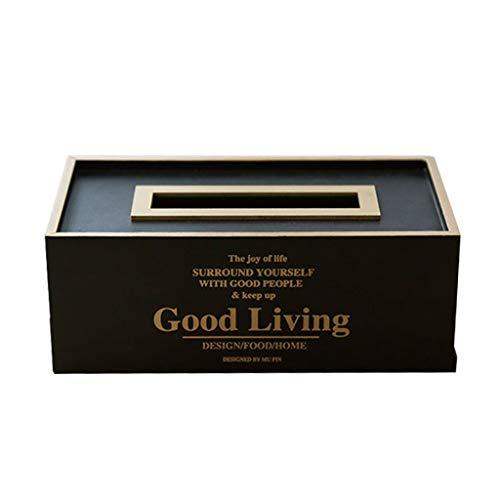 HYBKY Tissue Box Cover Rechteckigen Tissue Box Holz Tissue Box Cover Schlafzimmer Frisiertisch, Nachttisch, Schreibtisch Taschentuchhalter (Color : B) -