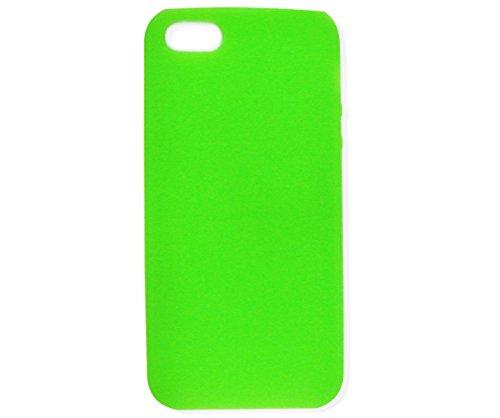 iPhone 5 Cover Housse Etui Bumper Frame Coque Cadre en Silicone Gel Diamant. Plusieurs motifs disponibles! Simple - Vert