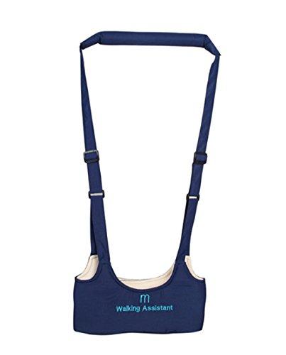 Blansdi Walking Assistant Einstellbare Erste Schritte Lauflernhilfe,Unisex Babys Neugeborene Sicherheitsgurt Gürtel, 6 Farben(Dunkelblau) Assistant Sweatshirt