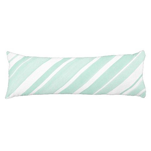 Baumwolle Streifen-kissen-sham (Moderne Body Kissen 20x 54Soft Mint Weiß Streifen langen Körper Kissen Sham für Mädchen Überwurf Body Kissenbezug (die Filler nicht im Lieferumfang enthalten))