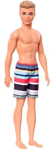 Barbie Muñeco Ken Bañador Rayas Colores Mattel GHW43