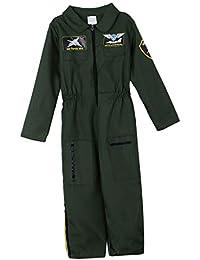 B Baosity Traje de Niños Fuerza Aérea Traje de Piloto Halloween Aviador Cosplay Disfraces Halloween Festivales Salidas Nocturnas
