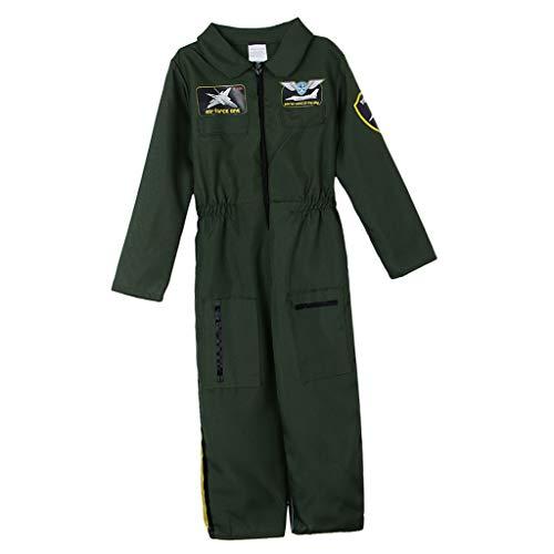 Baoblaze Kinderkostüm Flieger Pilot Overall Pilotenanzug Halloween Kostüm Verkleidung Faschung Karneval für Jungen Mädchen - XL
