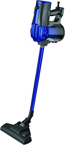 Clatronic BS 1306 Hand-/Bodenstaubsauger 2in1 beutellos, Hepa-Filter, Wandhalterung, anthrazit/blau