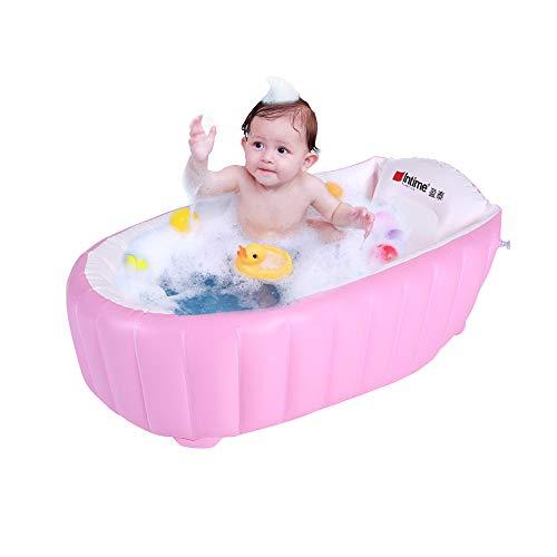 Signstek tragbare aufblasbare Badewanne Planschbecken Schwimmbecken für Baby und Kleinkinder (Rosa)