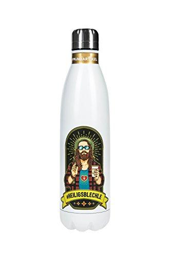 PREMIUM THERMOSKANNE mit patentiertem Ahh-geil-Effekt - #heiligsblechle - Einzigartig stylische 750ml Edelstahl-Trinkflasche mit Hipster-Heiligen drauf und damit ein echtes heilig´s Blechle. (#1)
