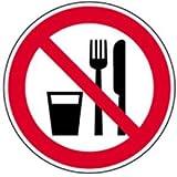 Schild Essen und Trinken verboten 20cm Ø Alu gemäß ASR A 1.3/BGV A8/DIN 4844