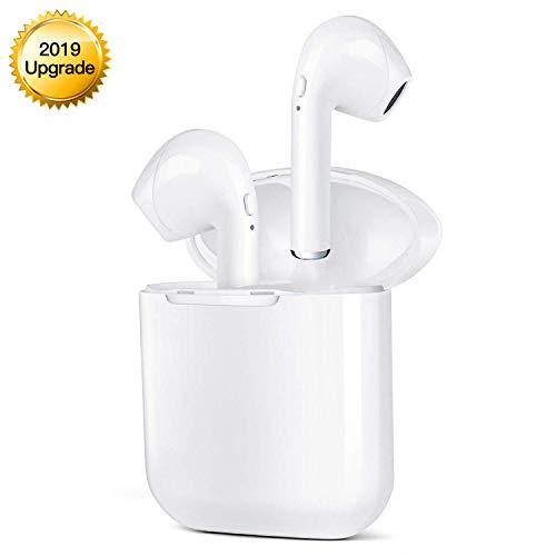 Auriculares Bluetooth,  Auriculares inalámbricos Bluetooth con micrófono HD y Caja de Carga para iPhone Samsung y Otros Auriculares para teléfonos Inteligentes.