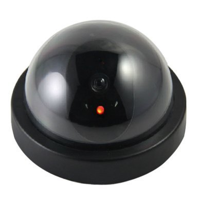 Magnusdeal® DOME CCTV BLINKING LED DUMMY SECURITY CEILING CAMERA.  available at amazon for Rs.299