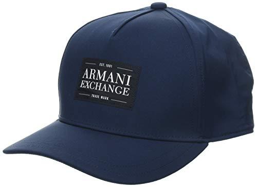 Armani Exchange Herren Logo 1991 Baseball Cap, Blau (Navy 04939), One Size (Herstellergröße: TU)
