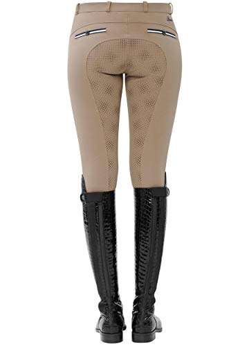 SPOOKS Reithose für Damen Damenreithose Reithosen Turnierreithose Vollbesatzreithose vollbesatz - Ricarda Full Grip - Beige XL