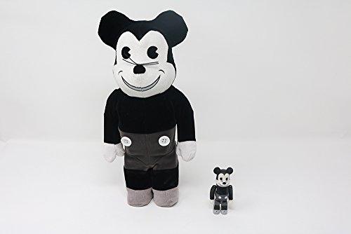 Bearbrick-Mickey Maus-B & W Vintage Version-100% und 400% -
