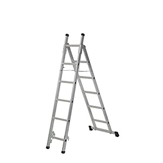 Abru 2101318 3 in 1 Combination Ladder Combi, Silver, One Size