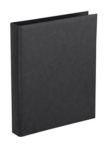 Herma 7559 Foto Ringalbum Classic schwarz (Format 26,5 x 31,5 cm) 4 Ringe, für max. 30 Blatt/60 Seiten, Kunststoff Vinyl, 1 Fotoalbum Ringbuch