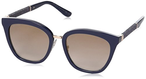 Jimmy Choo Damen FABRY/S NH KCA Sonnenbrille, Blau (Blueeglttbluee/Brown Ms Gld), 53