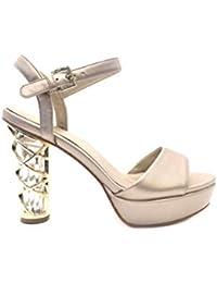 SANDALO PLEX ORO sandali cerimonia donna tacco ALTO PLATEAU particolare oro  con cristalli elegante scarpe sposa 3cf4606deee