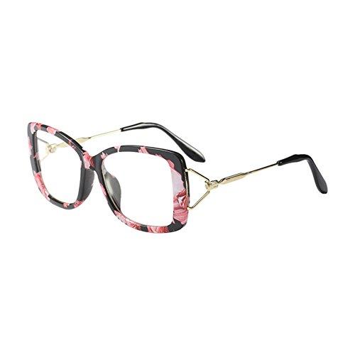 Hzjundasi Ultraleicht Oversized Square Rahmen Vintage Optisch Brille Klare Linse Spectacles Damen Mädchen Im Freien Anti-UV Persönlichkeit Brillen